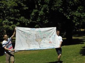 Délutáni világutazás térképe